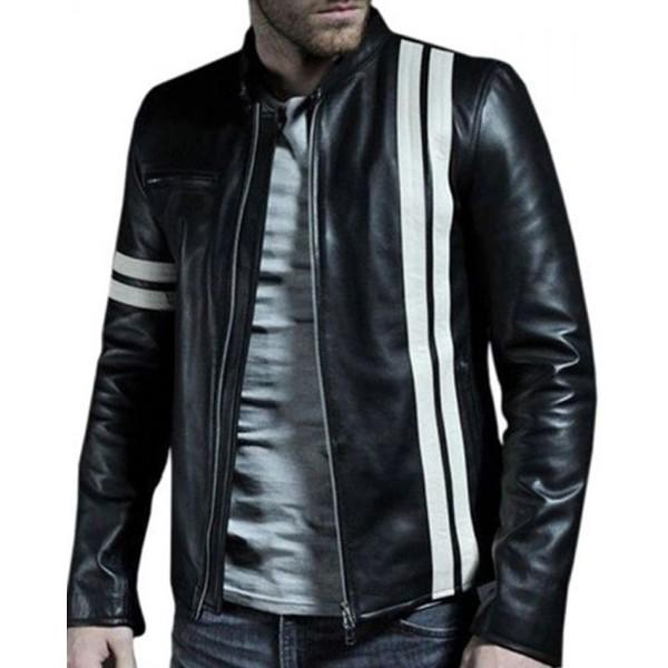 Unique Black Faux Leather Highstreet Jacket for Men