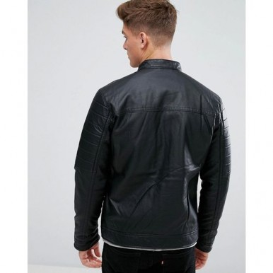 Stylish sleeves Highstreet Black Faux Leather Jacket
