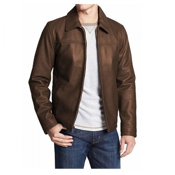 Unique Highstreet Leather Jacket (Brown)