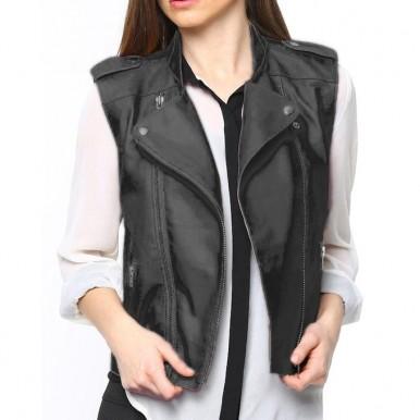 Leather Waistcoat Jacket For Women