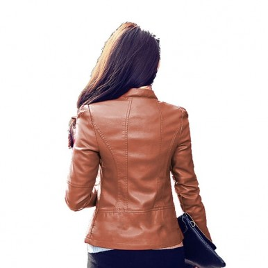 Moncler Skin Faux Leather Jacket For Women