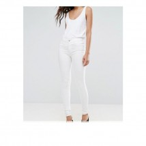 Moncler White Faux Leather Pant For Women