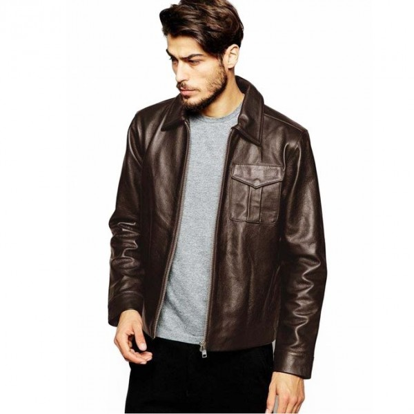 Moncler Brown Faux Leather Highstreet Jacket for Men