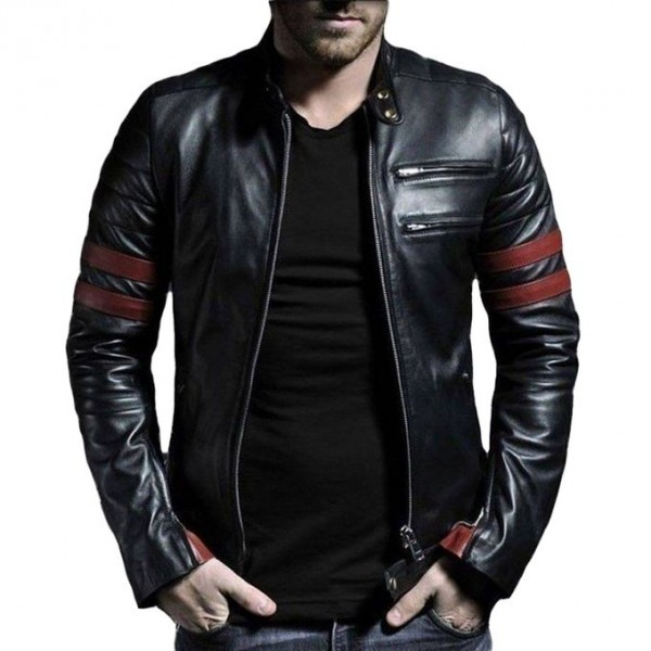 Faux Leather Highstreet Jacket By Moncler in Black for Men