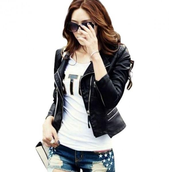 Moncler Black Faux Leather Highstreet Jacket for Women