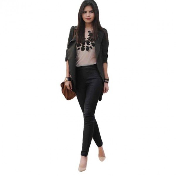 new Moncler Black Leather Pant For Women