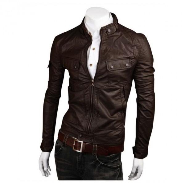 Moncler Brown Leather Jacket For Men1