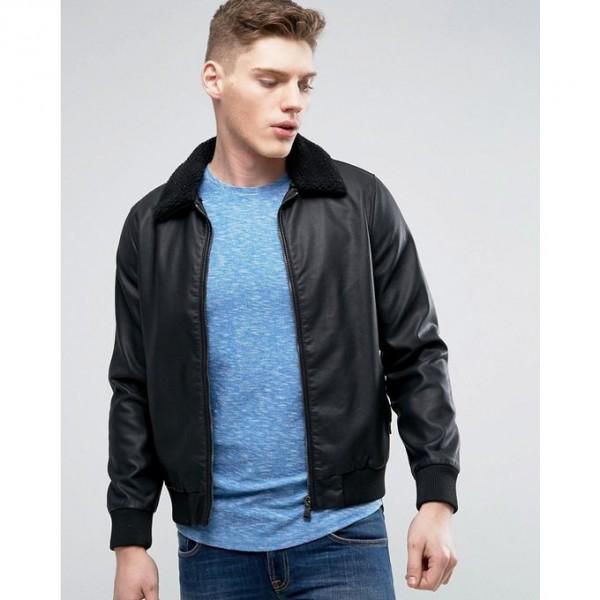 Moncler Highstreet Black Faux Leather Jacket For Men 234