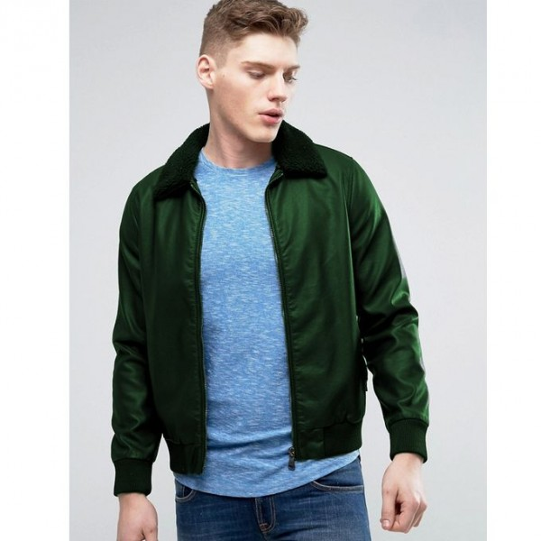 Moncler Highstreet Green Faux Leather Jacket For Men 343