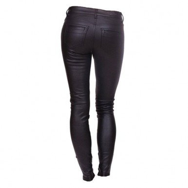Leather Pant For Women in Black by Moncler