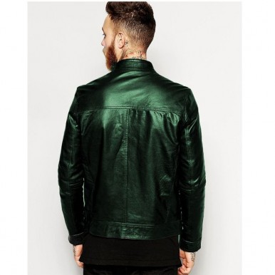 Moncler Green Faux Leather Highstreet Jacket for Men