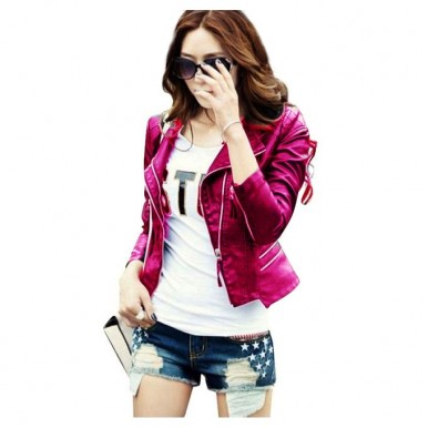 Moncler Pink Leather Jacket For Women