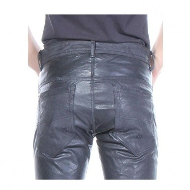 Leather Pant For Men in Black
