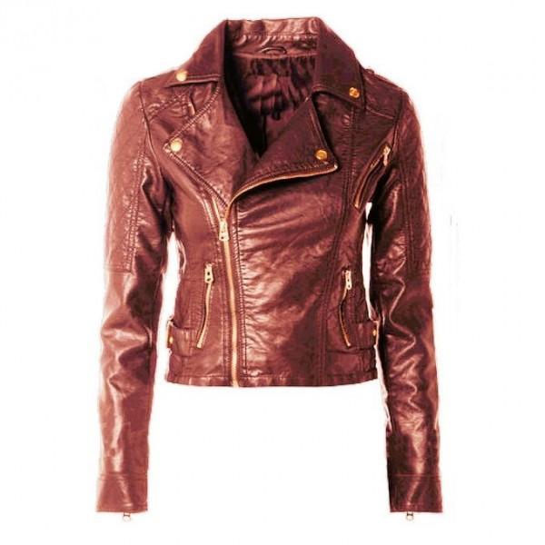 Moncler Skin short Leather Jacket For Women