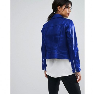 Moncler Highstreet  Blue style Faux Leather Jacket For Women