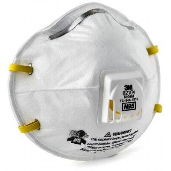3M Particulate Respirator 8210V- N95 Respiratory Protection Made in USA