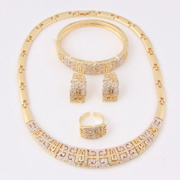 18 Carat Gold Plated African Costume Set For Her