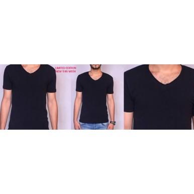 Black V-Neck Tshirt