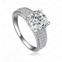 18KGP Platinum Plated Swiss Cubic Zircon Ring