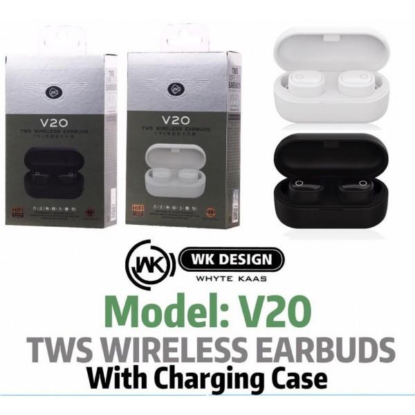 Wireless Earbuds Bluetooth 5.0 Wireless Headphones TWS Stereo Earphones IPX8 Waterproof Wireless Earbuds with Charging Case in-Ear Built-in Mic Headset