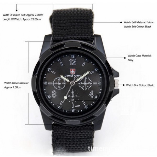 ARMY Watch in Pure Black Color