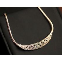 Alloy Knit Diamond Necklace
