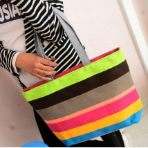Beachy Ranbow Canvas Bag for Her