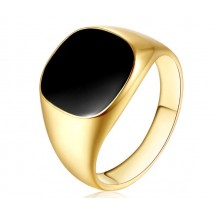 Black Stone Golden Ring for Men