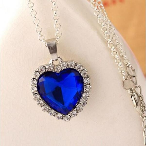 Titanic Heart Crystal Pendant
