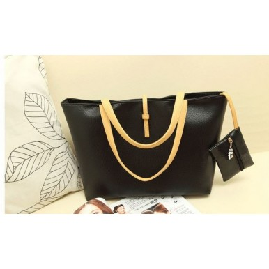 Black PU Leather Bag For Her