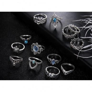 Bohemian Vintage Midi Rings - Blue