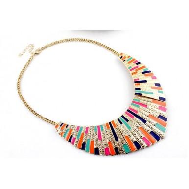 Enamel Retro Necklace