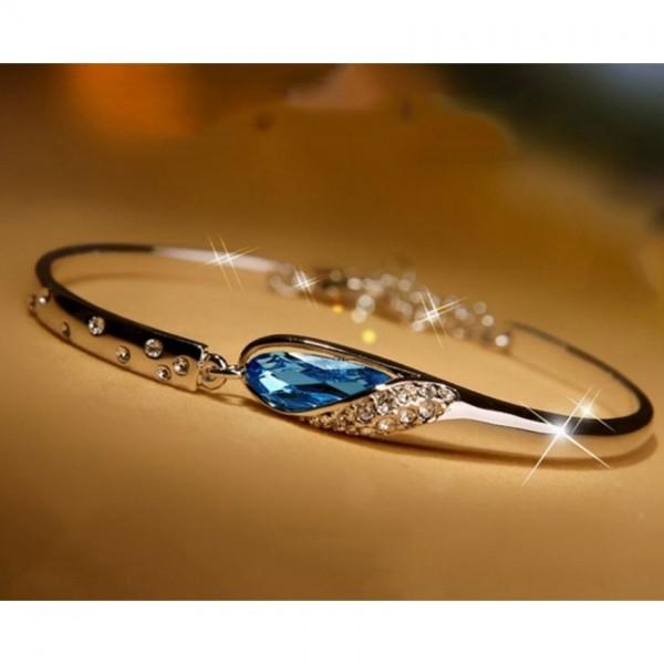 Blue Pearl Silver Bracelet
