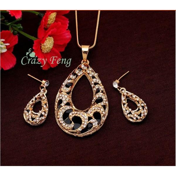 Austrian Crystal Water Drop Jewelry Set