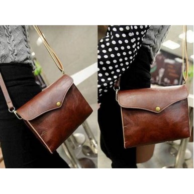 Retro PU Leather Women Shoulder Bag For Her