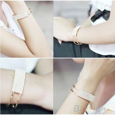 Elegant Crystal Cuff Wristband Bracelet For Her