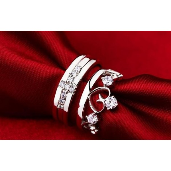 Crown Couple Rings For Her