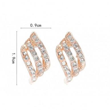 Crystal Stud Rose Gold Earrings