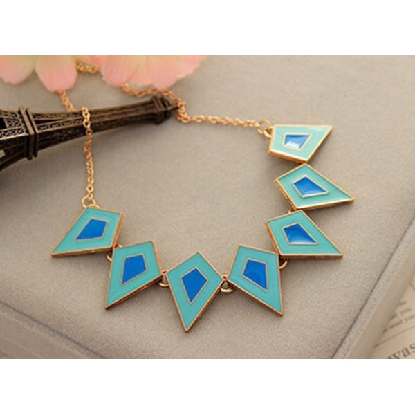 Blue and Sea Green Color Karma Geometrical Pendant