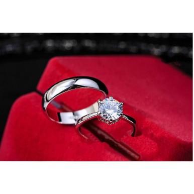 Diamond Couple White Gold Ring