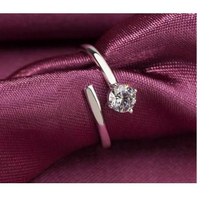 Diamond Couple Platinum Ring