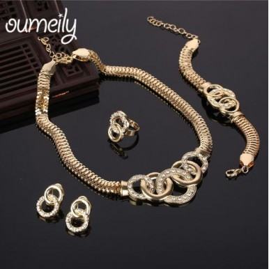 Dubai Gold Jewelry Set for Ladies