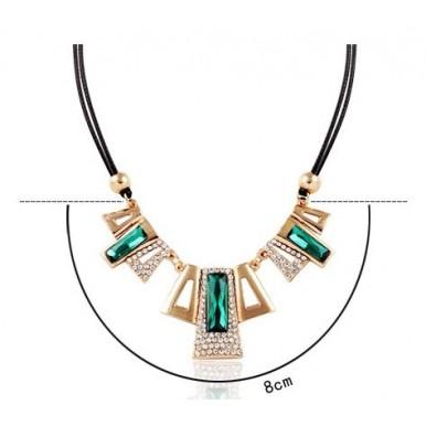 Big Emerald Gem Style Women Pendant