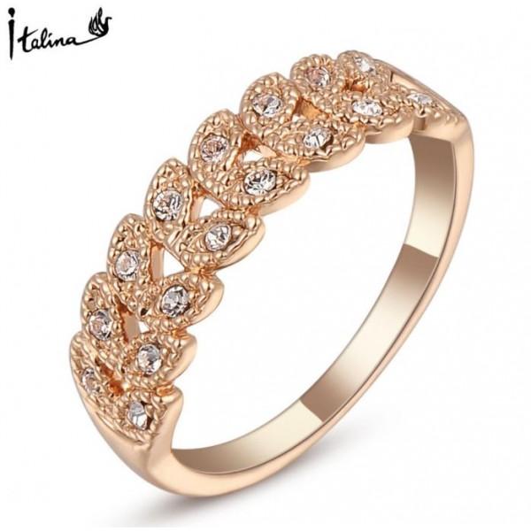 Austrian Crystal 18K Rose Gold Plated Vintage Ring