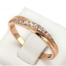 18K Gold Plated Rhinestones Studded Wedding Ring