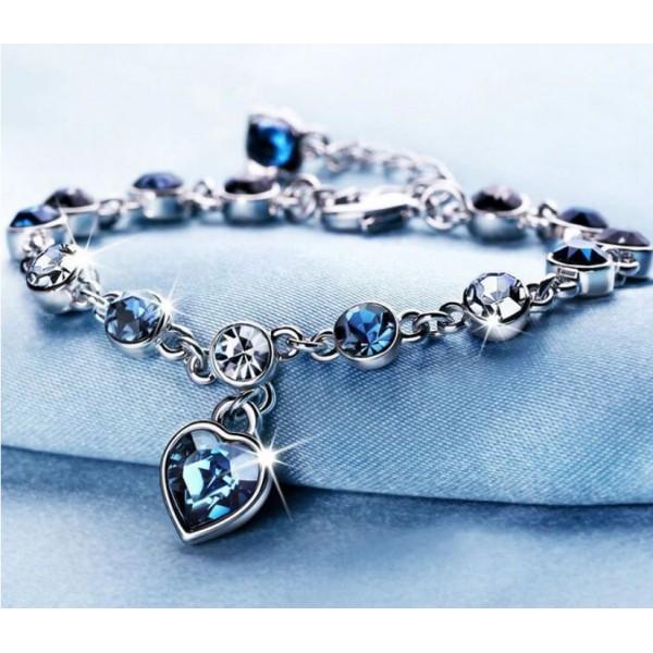 Heart Shaped Crystal Zircon Bracelet