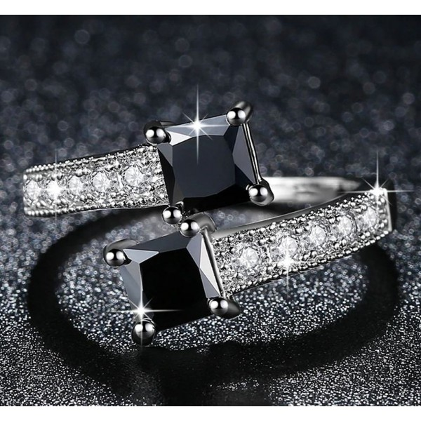 Luxury Starry White Gold Filled Ring