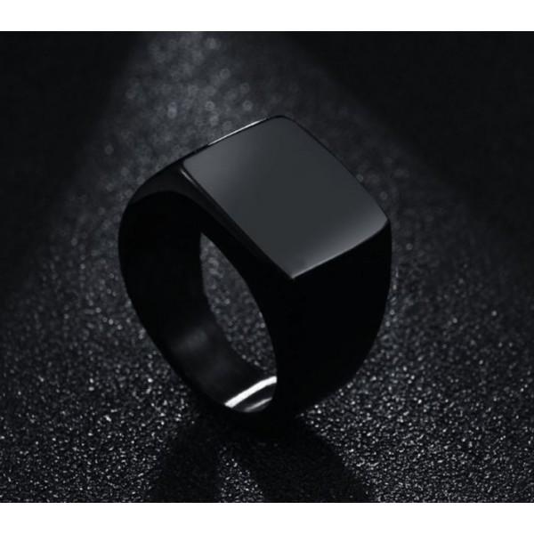 Titanium Signet Rings for Men