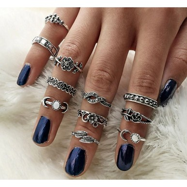 Turkish Punk Knuckle Midi Rings 11pcs in a Set – Bronze Style