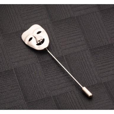 Happy Mask Lapel Pin Brooch